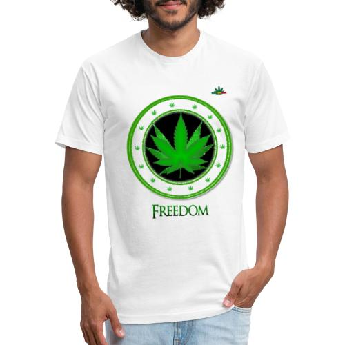 FREEDOM - Fitted Cotton/Poly T-Shirt by Next Level
