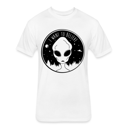 I Want To Believe - Fitted Cotton/Poly T-Shirt by Next Level