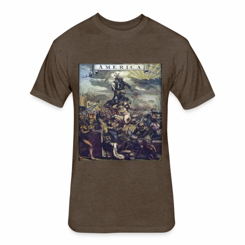 This Is America - Fitted Cotton/Poly T-Shirt by Next Level