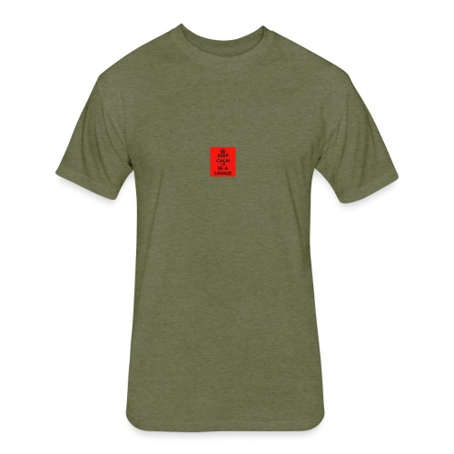 SAVAGE - Fitted Cotton/Poly T-Shirt by Next Level
