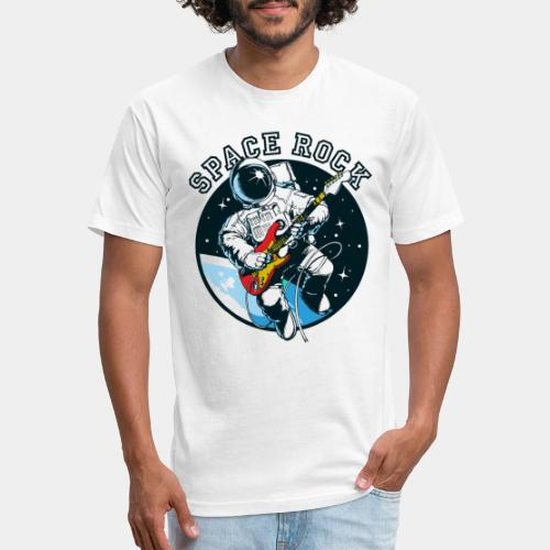 space astronaut rock - Fitted Cotton/Poly T-Shirt by Next Level