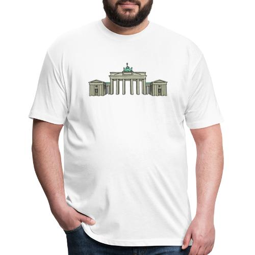 Brandenburg Gate Berlin - Fitted Cotton/Poly T-Shirt by Next Level