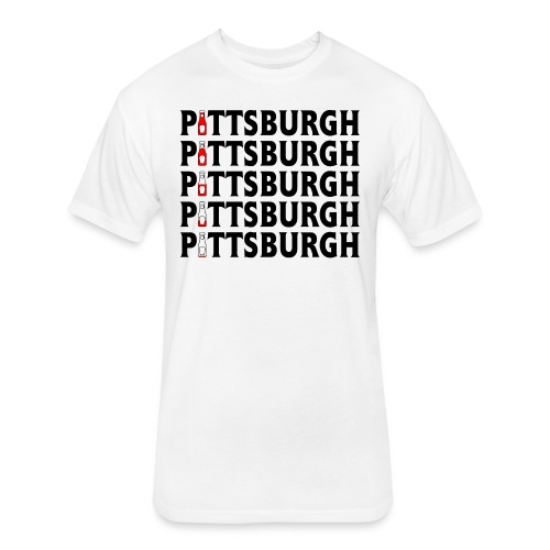 Pittsburgh (Ketchup) - Fitted Cotton/Poly T-Shirt by Next Level