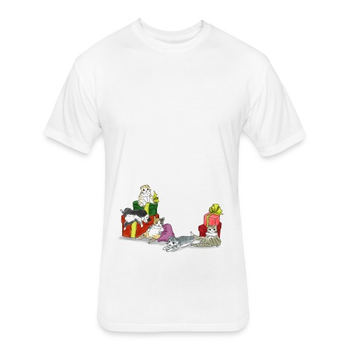 cutie cutie cats - Fitted Cotton/Poly T-Shirt by Next Level