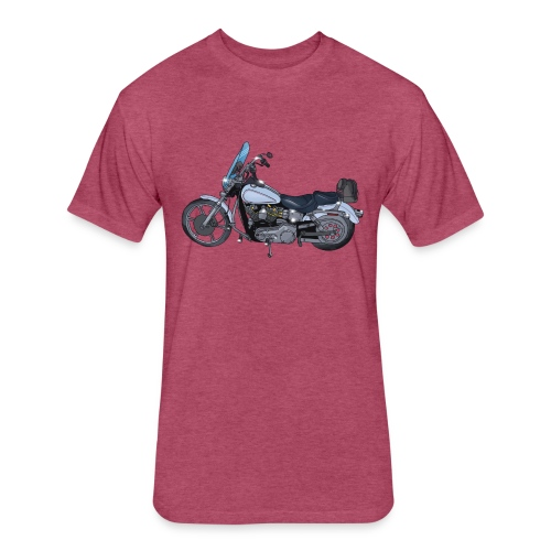 Motorcycle L - Fitted Cotton/Poly T-Shirt by Next Level