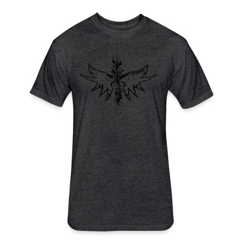 peace.love.good karma - Fitted Cotton/Poly T-Shirt by Next Level