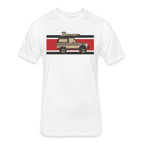 Bronco Truck Billet Design Men's T-Shirt - Fitted Cotton/Poly T-Shirt by Next Level