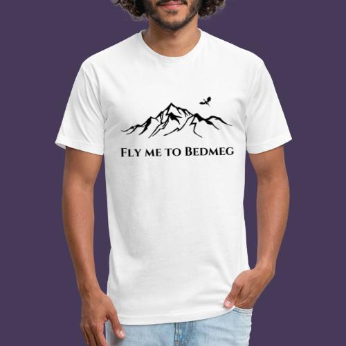 Fly Me To Bedmeg (black) - Fitted Cotton/Poly T-Shirt by Next Level