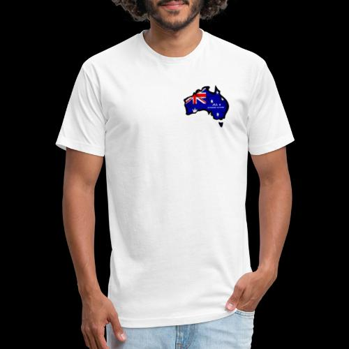 AUSSIE LIVIN - Fitted Cotton/Poly T-Shirt by Next Level