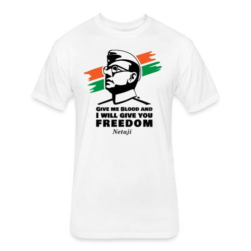 Subhash Chandra Bose - Fitted Cotton/Poly T-Shirt by Next Level