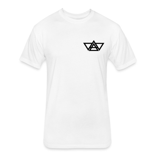 Black LOGO - Fitted Cotton/Poly T-Shirt by Next Level