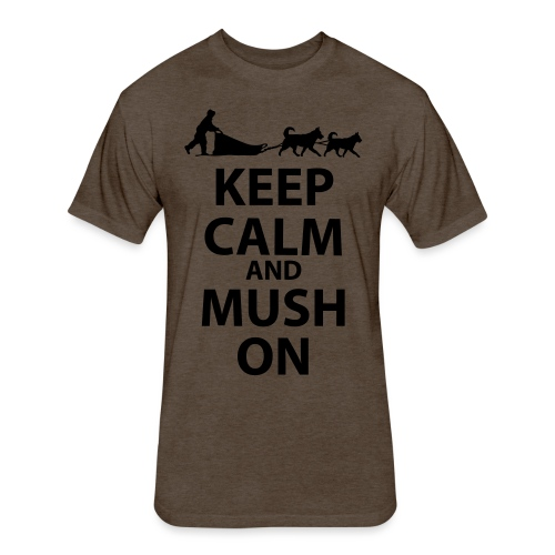 Keep Calm & MUSH On - Fitted Cotton/Poly T-Shirt by Next Level