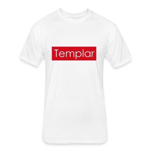 Red bar Templar - Fitted Cotton/Poly T-Shirt by Next Level