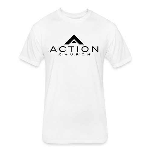 Action Small Logo - Fitted Cotton/Poly T-Shirt by Next Level
