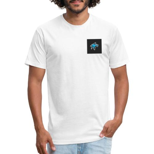wolf head esport gaming logo vector 44095 55 - Fitted Cotton/Poly T-Shirt by Next Level