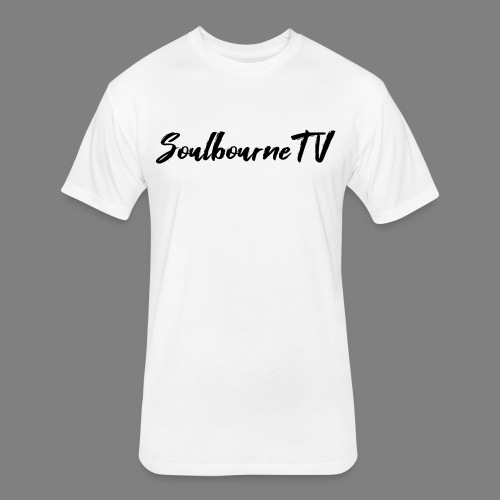 SoulbourneTV - Black on White - Fitted Cotton/Poly T-Shirt by Next Level