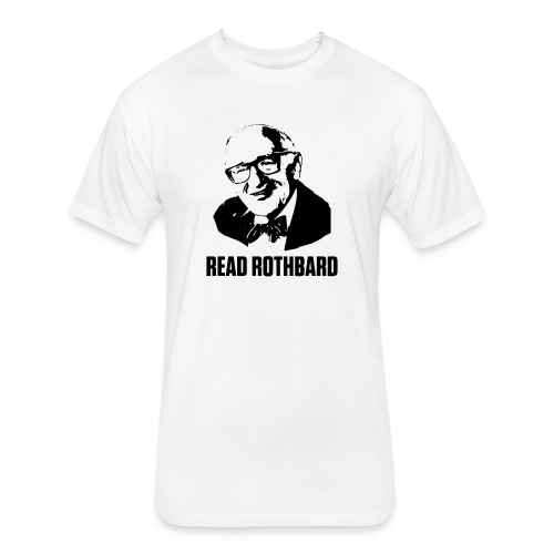 Read Rothbard - Fitted Cotton/Poly T-Shirt by Next Level