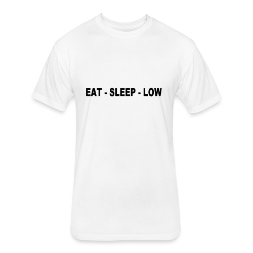 Eat. Sleep. Low - Fitted Cotton/Poly T-Shirt by Next Level