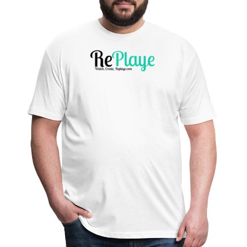 Replaye Black on White - Fitted Cotton/Poly T-Shirt by Next Level