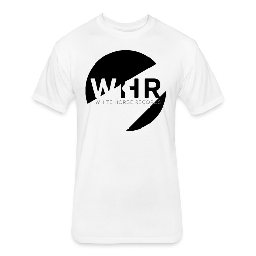 White Horse Records Logo - Fitted Cotton/Poly T-Shirt by Next Level