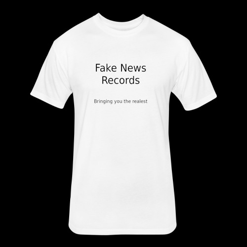 fake news records merch - Fitted Cotton/Poly T-Shirt by Next Level
