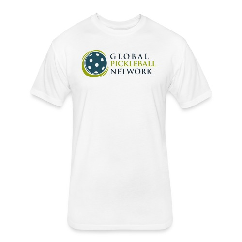 Global Pickleball Network on White - Fitted Cotton/Poly T-Shirt by Next Level