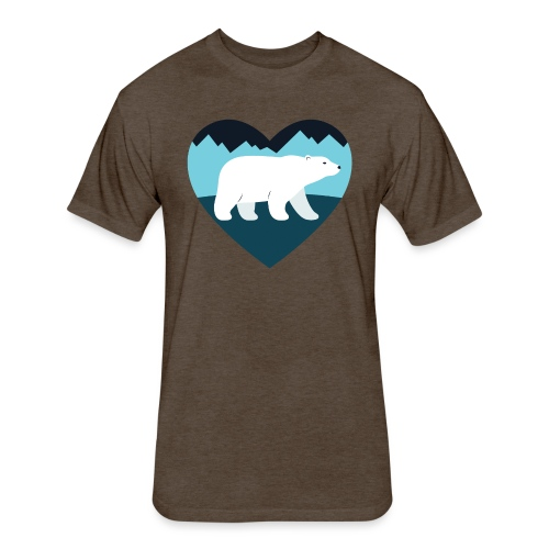 Polar Bear Love - Fitted Cotton/Poly T-Shirt by Next Level