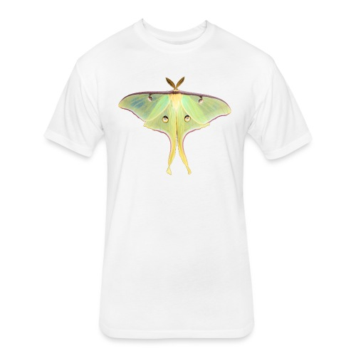 GREEN LUNA MOTH - Fitted Cotton/Poly T-Shirt by Next Level