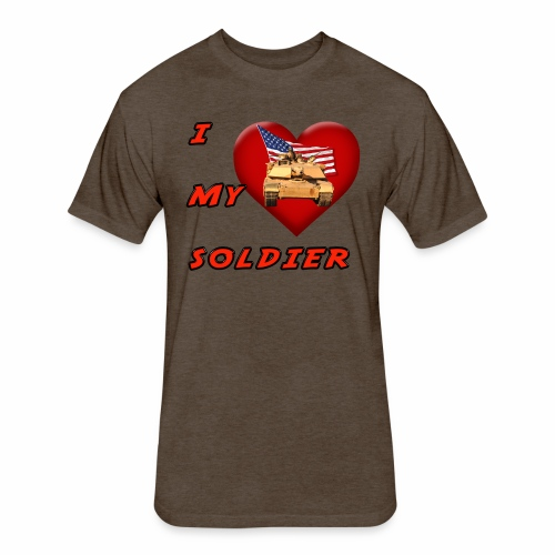 I Heart my Soldier - Fitted Cotton/Poly T-Shirt by Next Level