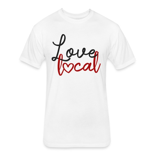 Love Local Tee - Red - Fitted Cotton/Poly T-Shirt by Next Level