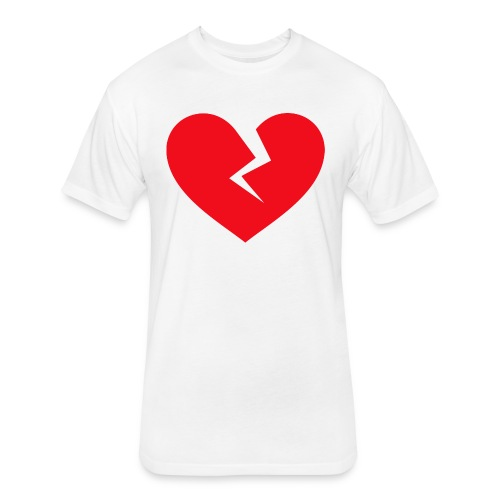 Broken Heart - Fitted Cotton/Poly T-Shirt by Next Level