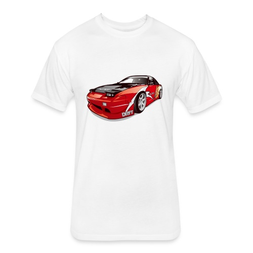 cars drift - Fitted Cotton/Poly T-Shirt by Next Level