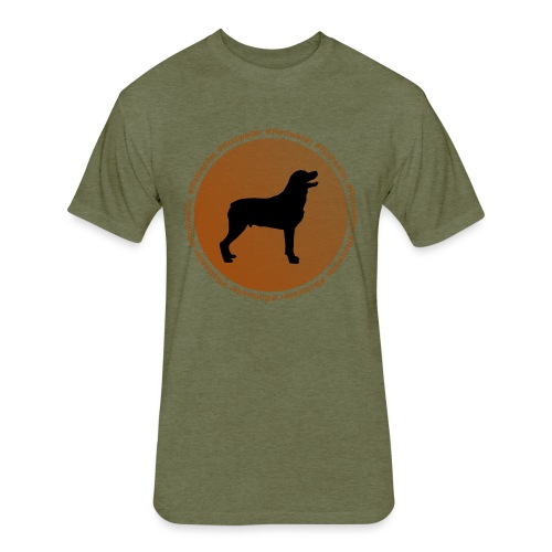 Rottweiler - Fitted Cotton/Poly T-Shirt by Next Level