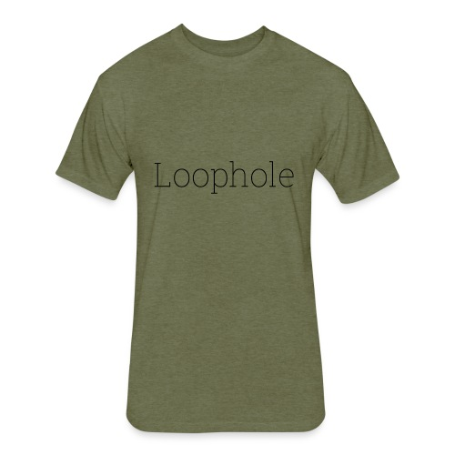 Loophole Abstract Design - Fitted Cotton/Poly T-Shirt by Next Level