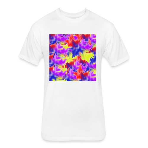 A Splash of Colour - Fitted Cotton/Poly T-Shirt by Next Level