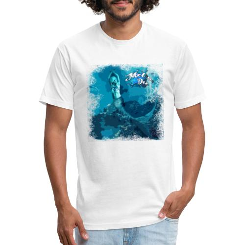 MEL*O*DEE Blue Mermaid Fantasy - Fitted Cotton/Poly T-Shirt by Next Level