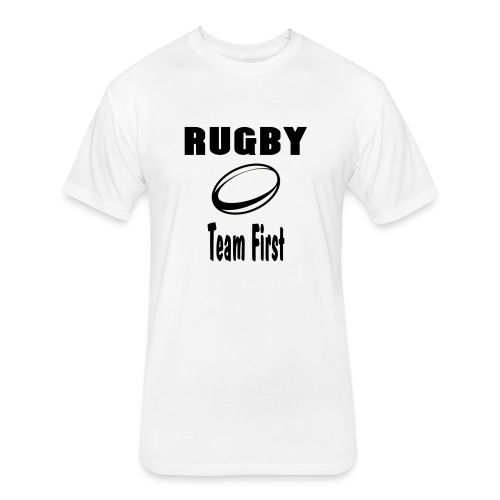 Rugby Team First - Fitted Cotton/Poly T-Shirt by Next Level