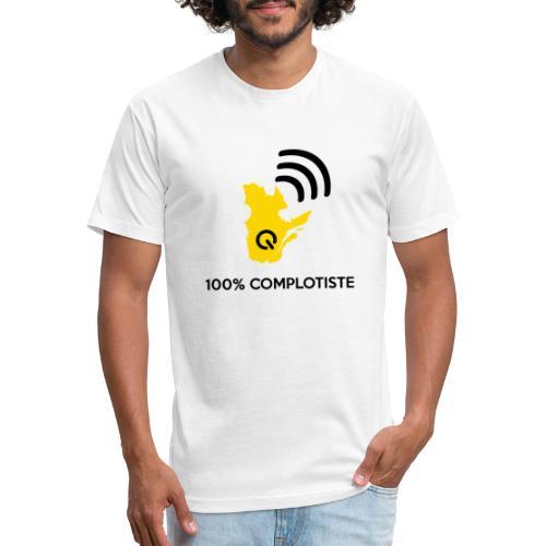 100% complotiste - T-shirt ajusté poly/coton pour hommes