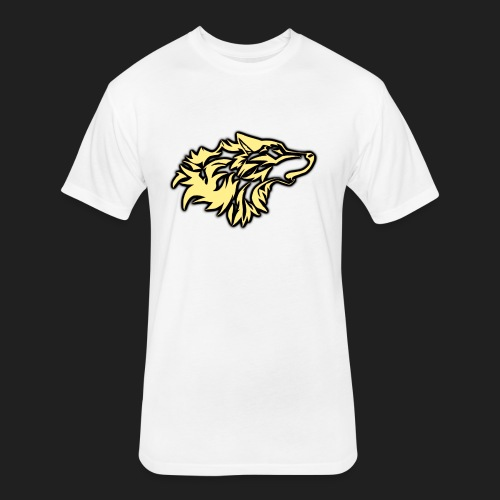 wolfepacklogobeige png - Fitted Cotton/Poly T-Shirt by Next Level