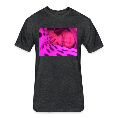 Purple under my bed - Fitted Cotton/Poly T-Shirt by Next Level
