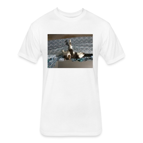 Lol da upside down fat cat - Fitted Cotton/Poly T-Shirt by Next Level