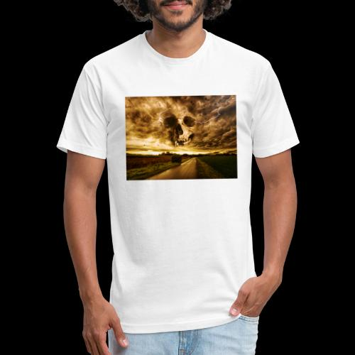 Horror Skull In The Valley - Fitted Cotton/Poly T-Shirt by Next Level