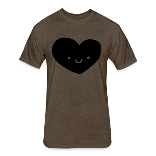 Happy heart - Fitted Cotton/Poly T-Shirt by Next Level