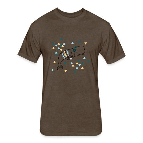 Music Whale - Fitted Cotton/Poly T-Shirt by Next Level