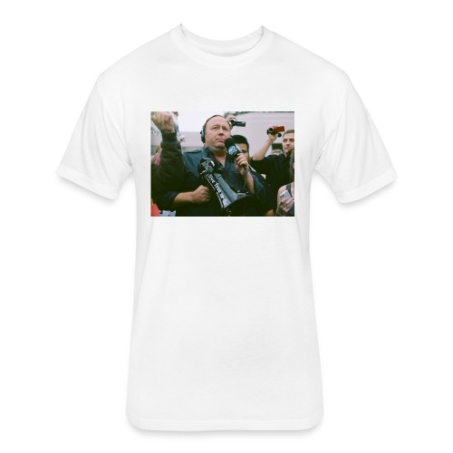 Say NO to Alex Jones Censorship - Fitted Cotton/Poly T-Shirt by Next Level