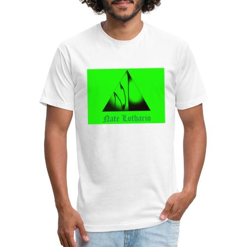 Lime Green Logo - Fitted Cotton/Poly T-Shirt by Next Level