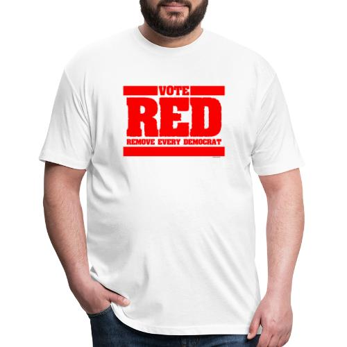 Remove every Democrat - Fitted Cotton/Poly T-Shirt by Next Level
