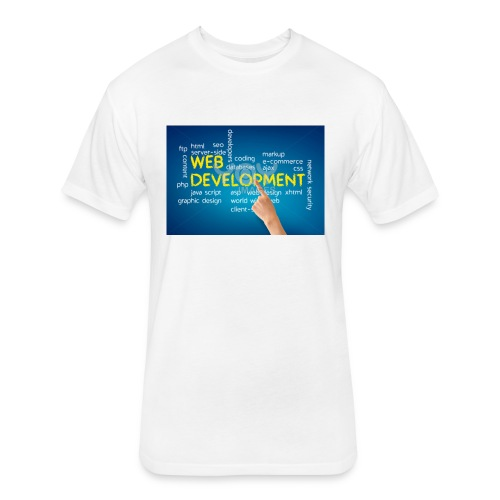 web development design - Fitted Cotton/Poly T-Shirt by Next Level