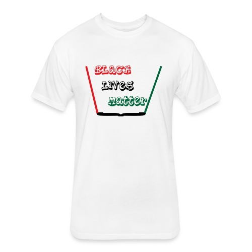 A244080 Black Lives Matter 1 - Fitted Cotton/Poly T-Shirt by Next Level