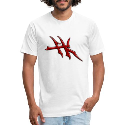 Blayde Symbol (Red) - Fitted Cotton/Poly T-Shirt by Next Level